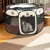Evelots Portable Pop Up Dog Play Pen, Indoors & Outdoors, Travel Supplies, Small