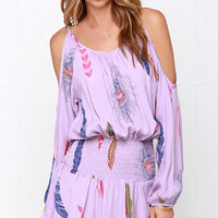 Lucy Love Free Spirit Lavender Print Dress