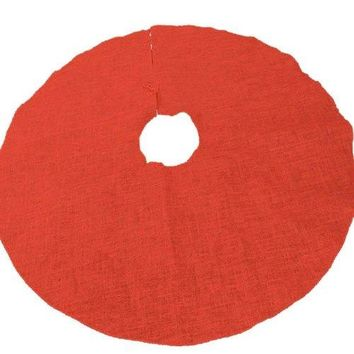 Homeford FHV000T14252 Burlap Christmas Tree Skirt, Red, 60""