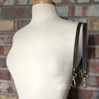 "Pair of Petite Leather Purse Handles (24"")"