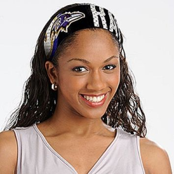 Baltimore Ravens Jersey Fanbands HEADBAND NFL Women Ladies Team Apparel