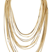 Rosantica Schiava gold-plated and faux pearl necklace – 65% at THE OUTNET.COM