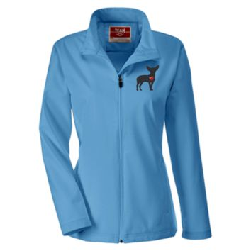 """My Heart"" Chihuahua Team 365 Ladies Soft Shell Jacket"