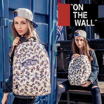 VansFashion Personality printing large capacity backpack bag leisure travel boom Mickey Mouse Donald Duck 7 style -1