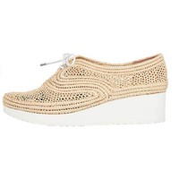 Robert Clergerie Vicoleo Raffia Wedge
