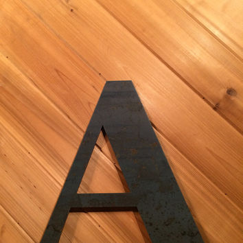 "Large 24"" Raw or Painted Metal Letter A by PrecisionCut on Etsy"
