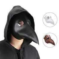 Takerlama Cospaly Dr. Beulenpest Steampunk Plague Doctor Mask Faux Leather Birds Beak Masks Halloween Art Cosplay Carnaval Props
