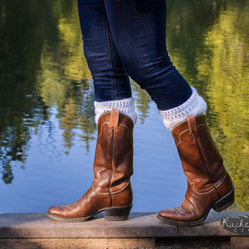 Classic White Boot Warmers Boot Cuffs Rain Boot Socks Toppers