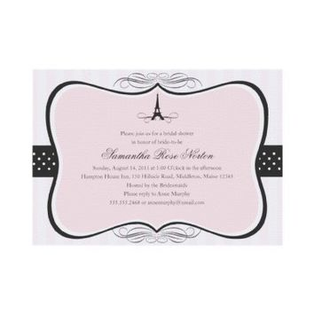 Eiffel Tower Paris Bridal Shower Personalized Invitations from Zazzle.com