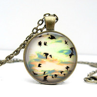 Bird Silhouette Necklace