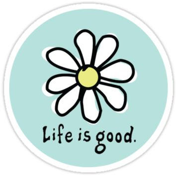 'Life is Good Aqua' Sticker by jennaannx11