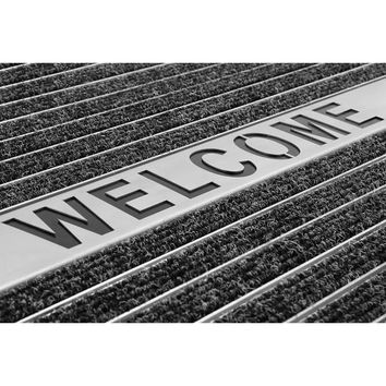 Alumatte Ultra Mat Laying carpet insert and Welcome lettering