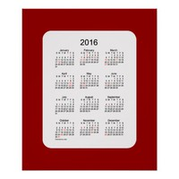 2016 Maroon Holiday Calendar by Janz Print
