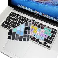 Silicon Keyboard Cover with Final Cut Pro X Shortcuts (US Layout) for 13 / 15 MacBook