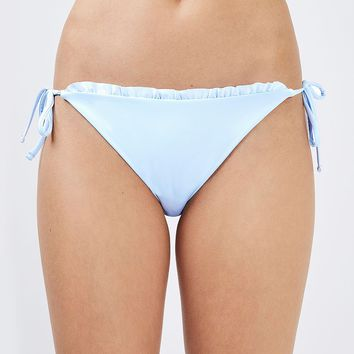 Frill Edge Tie Side Bikini Bottoms | Topshop