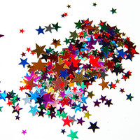 Multi Color Star MIx  1 Fl. Ounce by Theglittersource on Etsy