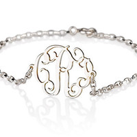 Monogram Bracelet  925 Sterling Silver Side by BestPersJewelry