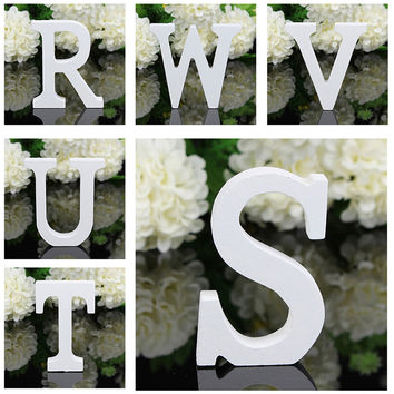A-Z Wooden Wood Letters Alphabet Word Free Standing Wedding Party Home Decor 2017