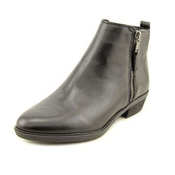 Lauren Ralph Lauren Shira Women Round Toe Leather Black Ankle Boot