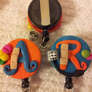 Personalized Neon Nurse Badge Reels