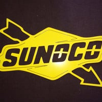 Sunoco metal sign