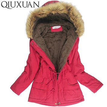 Winter Jacket Women Faux Fur Collar Womens Coats Long Down Parka  Lady Hoodies Parkas Warmer Classical Jackets Size S-XXXL