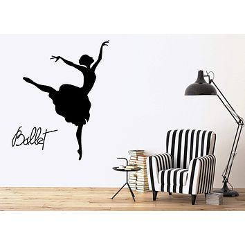 Vinyl Decal Ballet Dancer Wall Stickers Dance Decor Opera and Ballet Theatre Dancing Passion Unique Gift (ig2483)