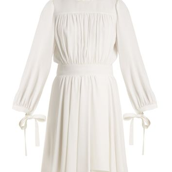 Blouson-sleeved cady dress | Chloé | MATCHESFASHION.COM US