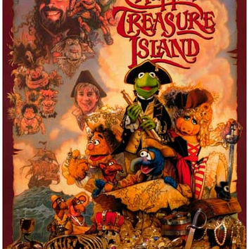 The Muppets Treasure Island Movie Poster 11x17