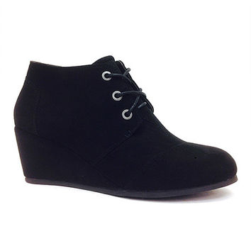 Black Paddy Wedge Bootie