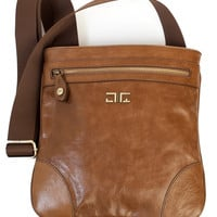 Hermes-Small Messenger Flight Bag-Saddle