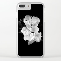 geranium in bw Clear iPhone Case by ARTbyJWP