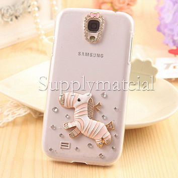 Fashion Horse crystal case For Samsung Galaxy S3/S4/S5 cell Phone case for Galaxy Note2 / Note3 phone cover