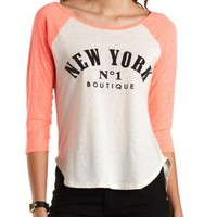 Embellished New York Graphic Baseball Tee