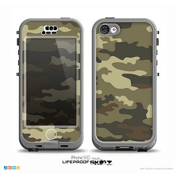 The Vector Camouflage Pattern V1 Skin for the iPhone 5c nüüd LifeProof Case