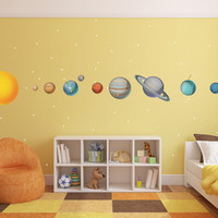 Huge Solar System Wall Decals - WDSET10019B