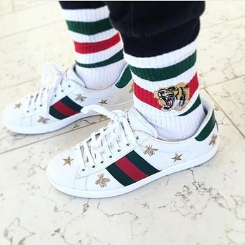 Gucci Casual And Casual White Shoes Various Styles