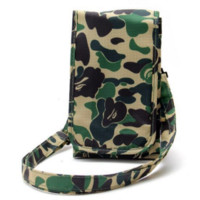 AAPE Fashion Casual Camouflage Canvas Shoulder Bag Crossbody