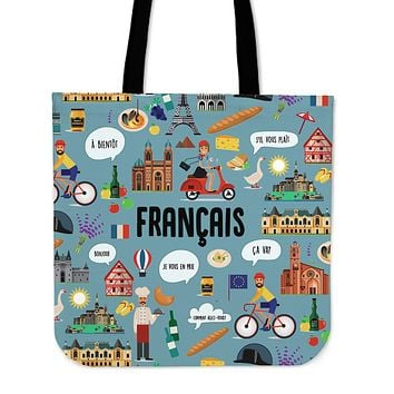French Teacher Linen Tote Bag - Promo