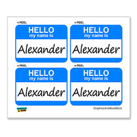 Alexander Hello My Name Is - Sheet of 4 Stickers