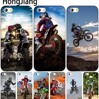 HongJiang  Motocross moto cross dirtbikes cell phone Cover case for iphone 6 4 4s 5 5s SE 5c 6 6s 7 8 plus case for iphone 7 X