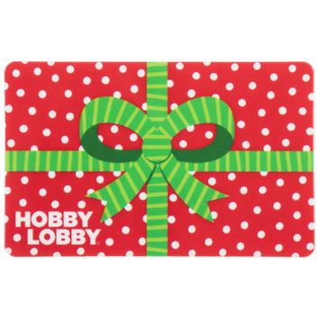 Christmas Bow Gift Card | Hobby Lobby