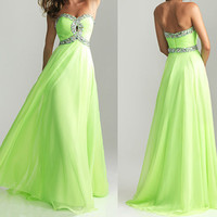 fashion green party dress girls party dress cheap prom by okbridal