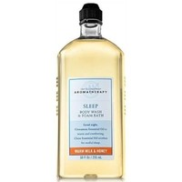 Bath & Body Works Aromatherapy Sleep Warm Milk & Honey Body Wash and Foam Bath 10 fl oz (295 ml)
