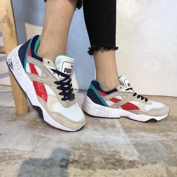 """""""Puma R698 Block"""" Unisex Casual Retro Multicolor Running Shoes Couple Fashion Thick Bottom Sneakers"""