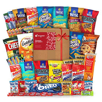 Snack Chips Gift Set Party Box Bundle Care Package 50 Count