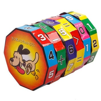 New Children Kids Mathematics Numbers Magic Cube Toy Puzzle Game Gift (Size: 5.5cm by 5.5cm by 7cm) = 1945856132