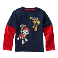 Paw Patrol Marshall & Chase Mock-Layer Tee - Toddler, Size: