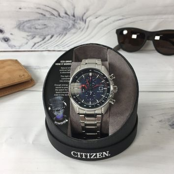 Citizen Drive Men's Eco-drive Ca0590-82l Stainless Steel Chronograph Watch (NWT)