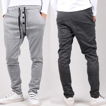 Mens Joggers Fashion Casual Harem Sweatpants Sport Pants Trousers Sarouel Men Tracksuit Bottoms For Track Training Jogging Plus Size = 5979088001